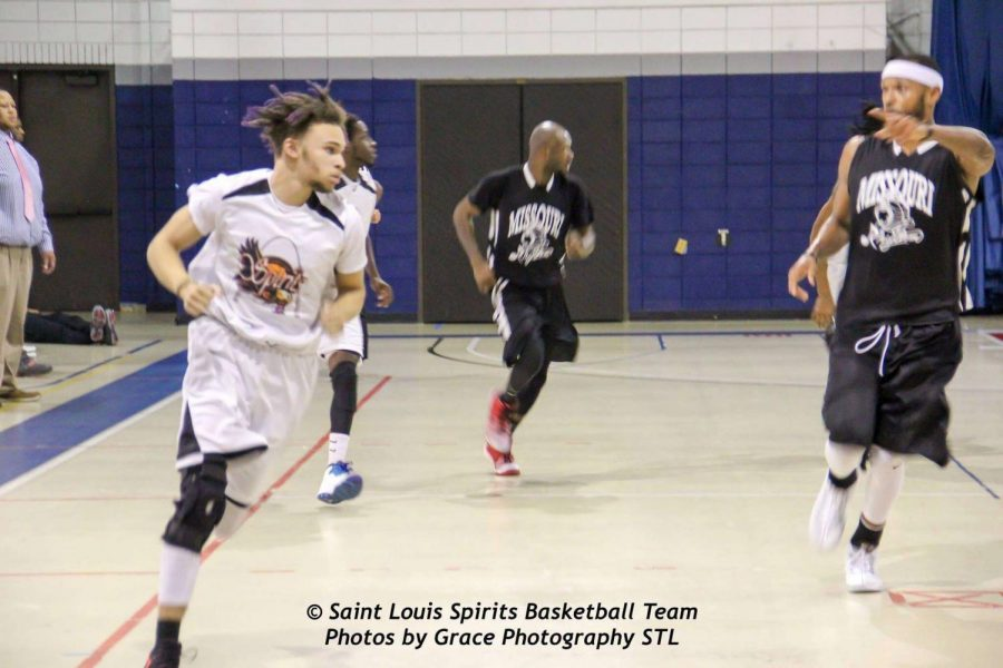 Recent graduate Bernard Dorsey playing for the Saint Louis Spirits
