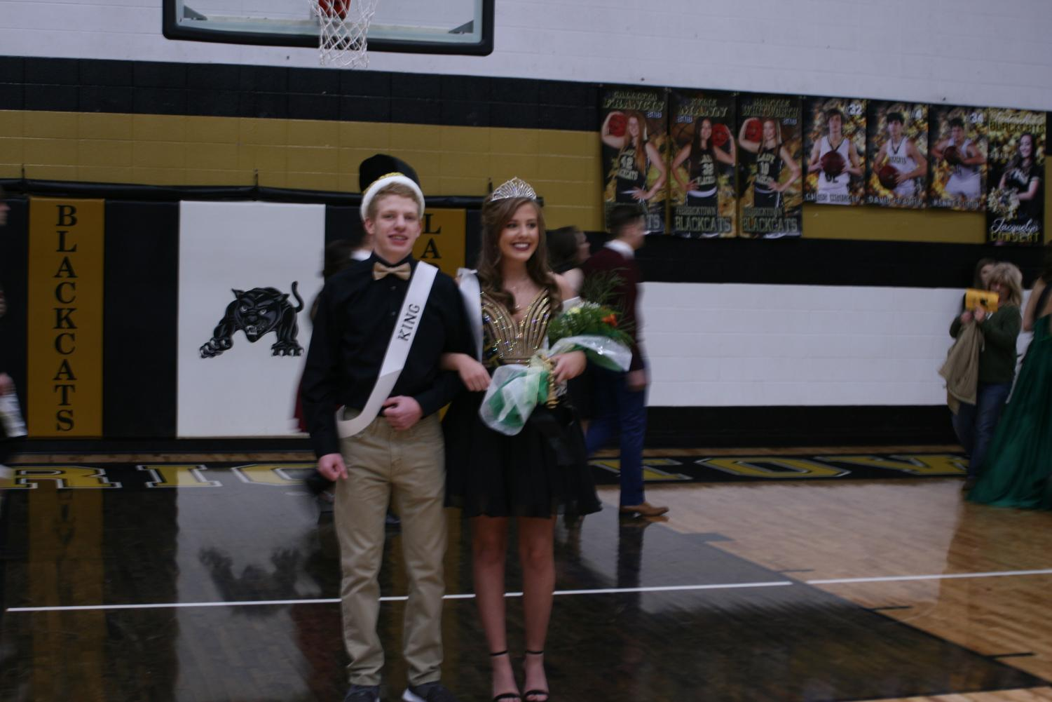 Homecoming king and queen Kaden Lee and Gracie Flanagan