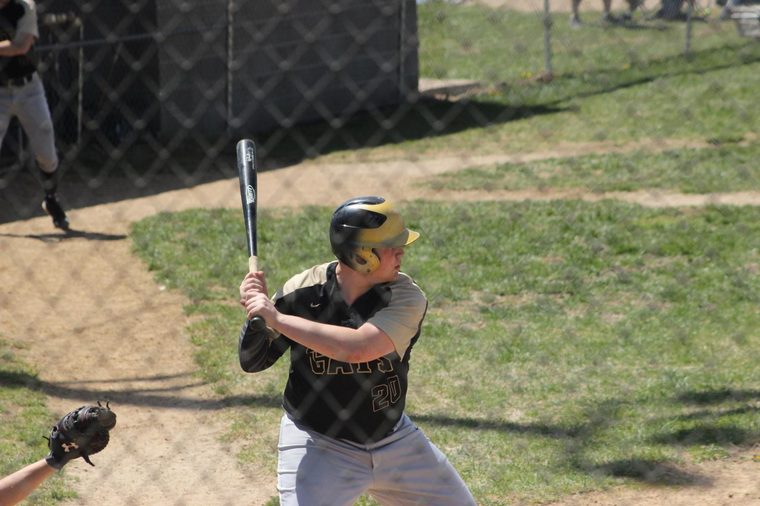 Kenny Couch waiting to hit the ball.
