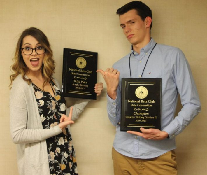 Last year's state convention winners, Joslyn Schott and Riley Dodson