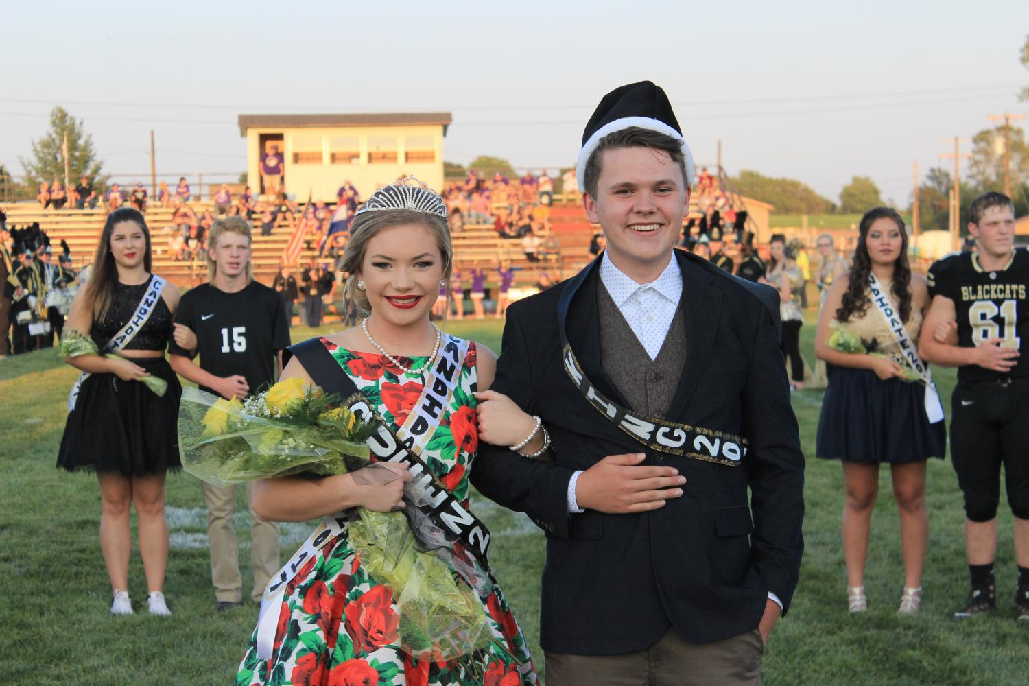Queen Maddie Whitworth and King Skylar Tarkington