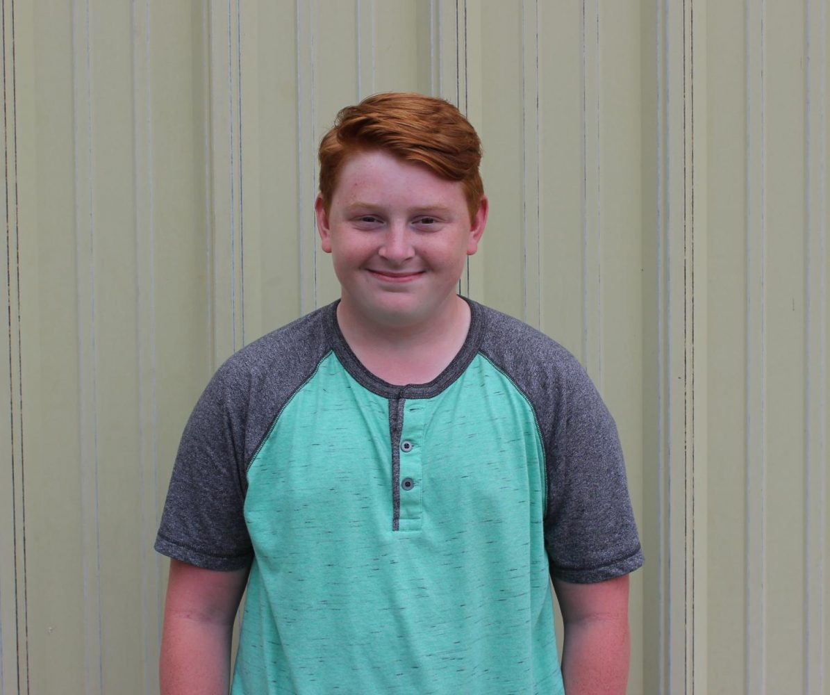 Freshmen Student Council member Josiah White