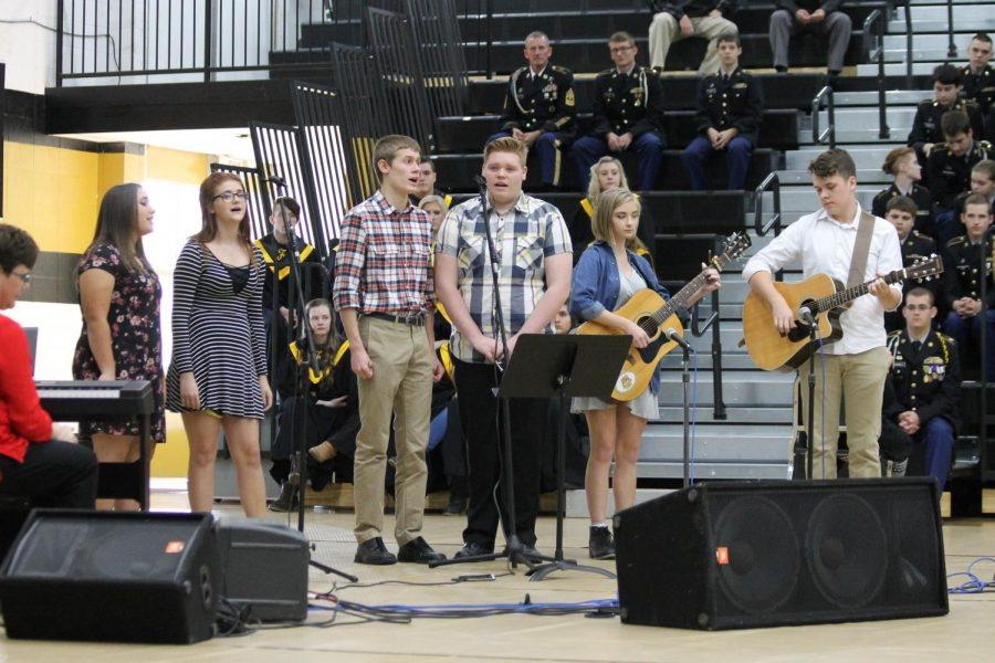 The FHS Half-Day Band performs during the Veterans Day program on Thursday, November 9.