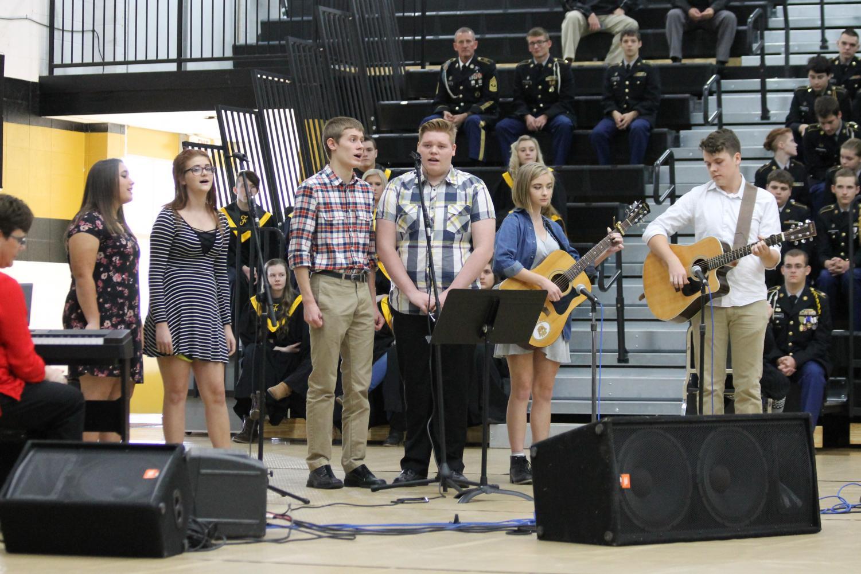 The FHS Half-Day Band performs during the Veterans Day program on Thursday, November 9.