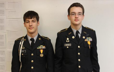Members of JROTC are promoted to their new ranks