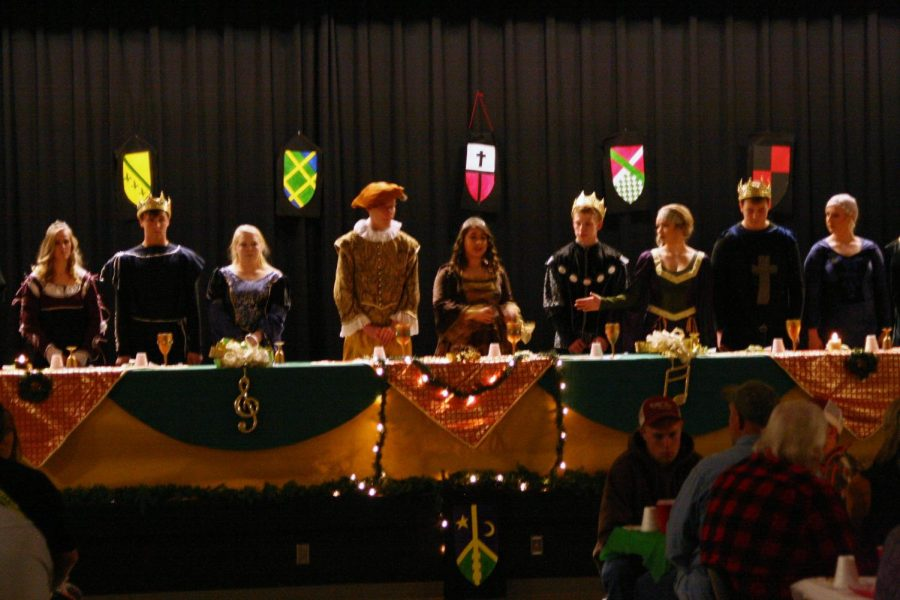 The Madrigal cast performs