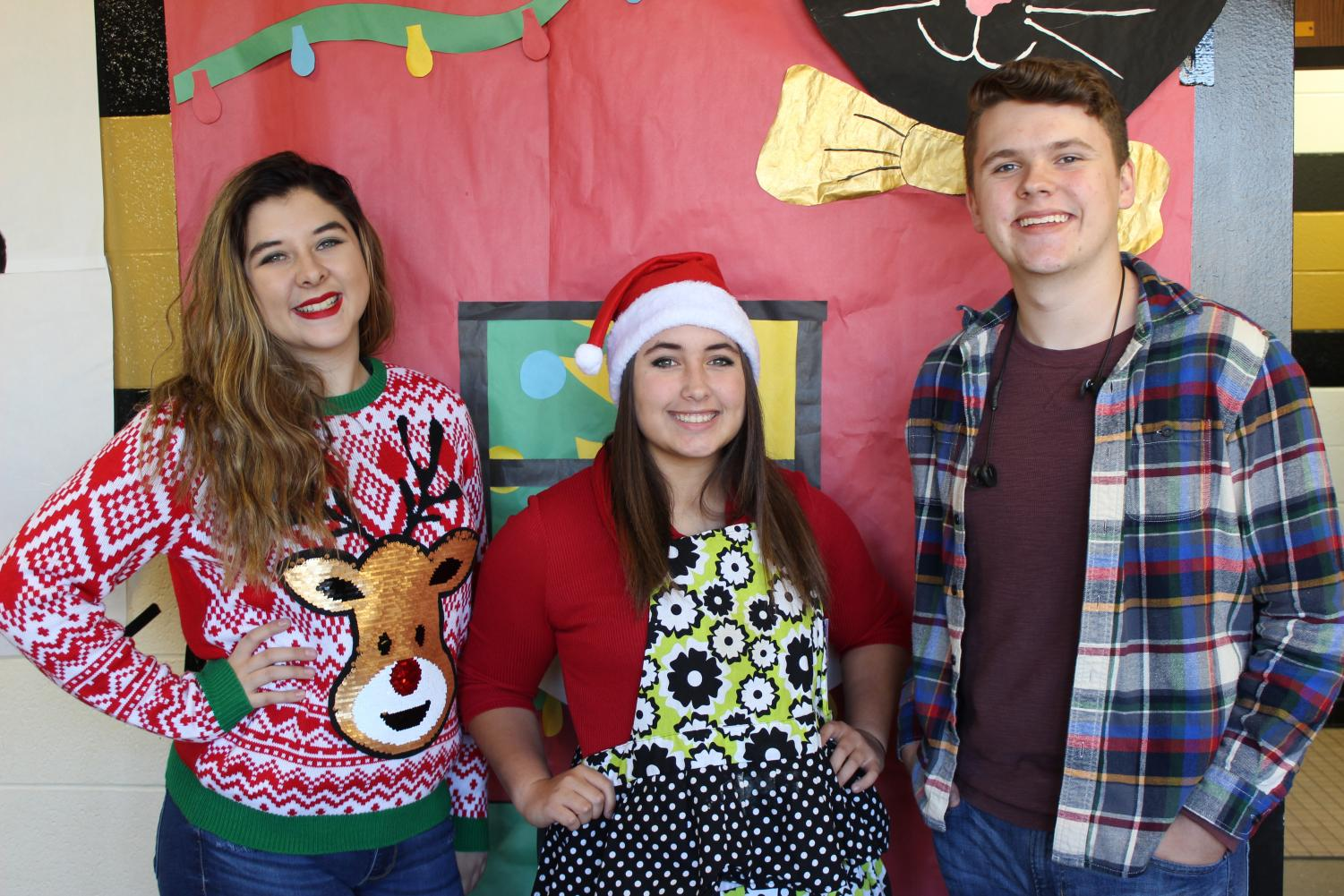 Student Body officers (from left to right) Sara White, Haley Gilmore, and Skylar Tarkington