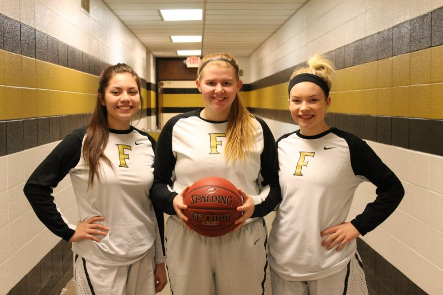 Seniors, Kylie Mann, Callista Francis, and Mattie Whitworth