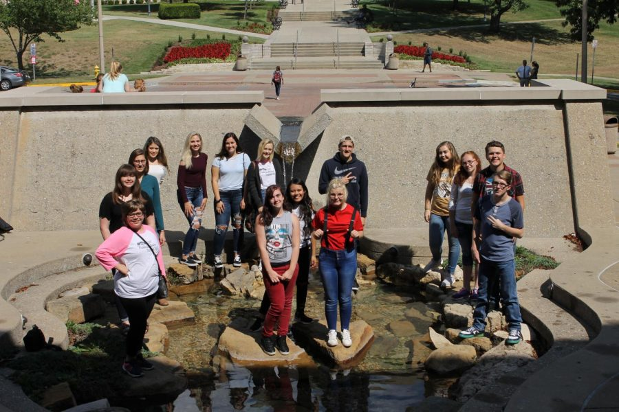 ScratchPad and Yearbook staff at the SEMO Publications day