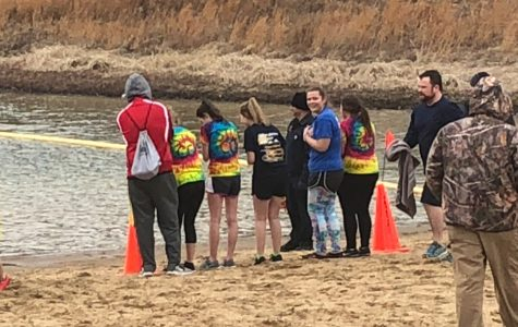 Student Council members getting ready to take the plunge.