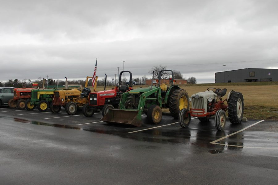 Some of the tractors displayed on Friday.