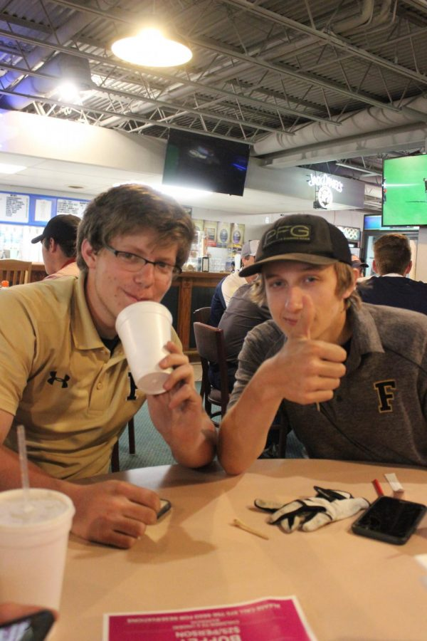 Lane and Levi, after an exciting match against Festus
