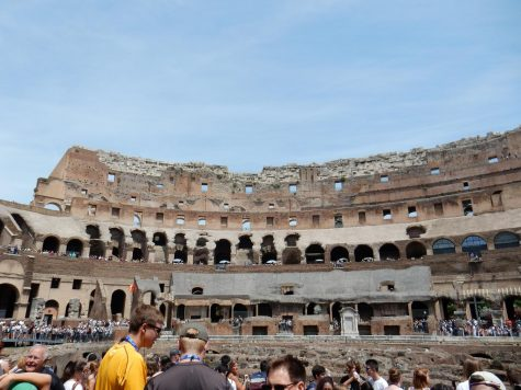 Inside of the Coliseum.