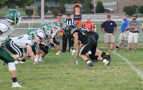 Fredericktown Blackcats line up against the Perryville Pirates.