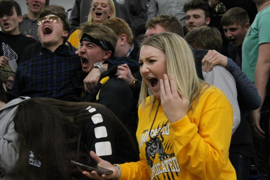 Sophomore Shayna Russom during the scream off