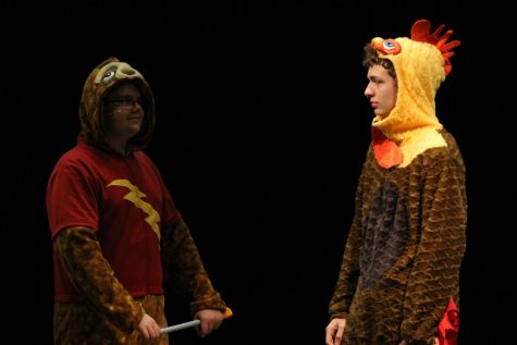 Curtis Lewis (Left) and Jerritt Hargis (Right) perform as toddlers in onesies.