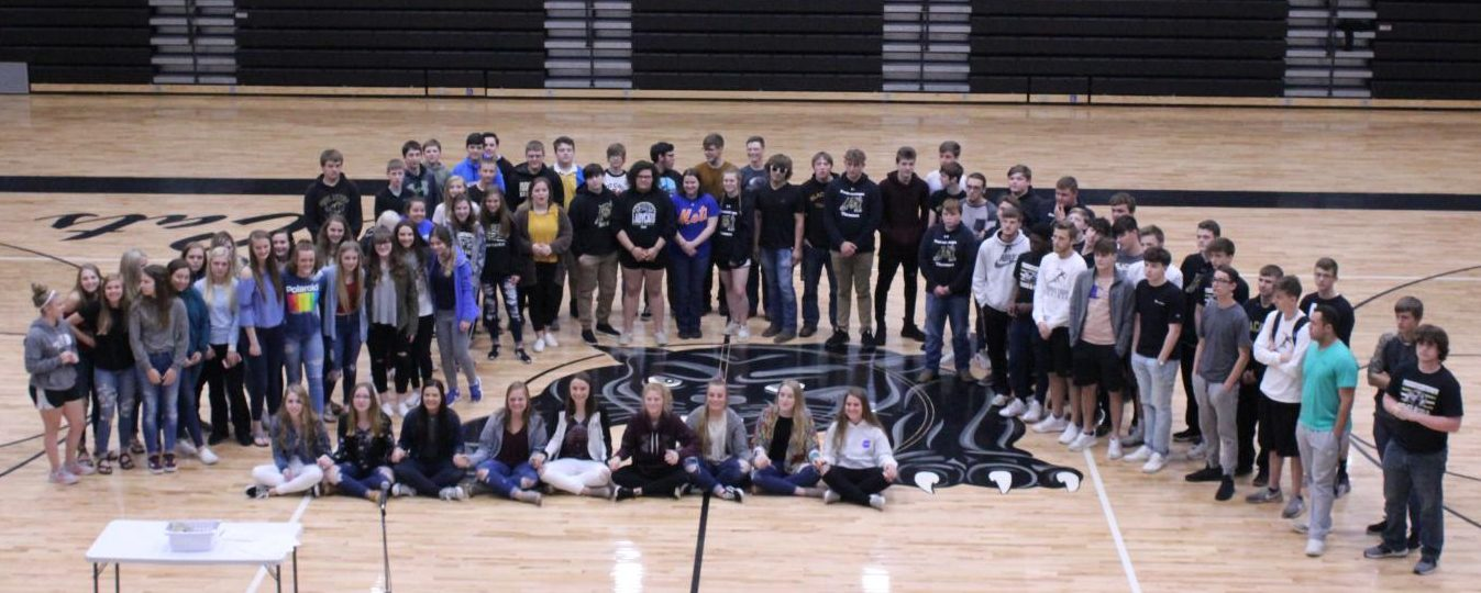 Members of the spring athletic program include track, girls soccer, golf, and Scholar Bowl teams. The baseball team, en route to Arkansas, was not available for this picture.
