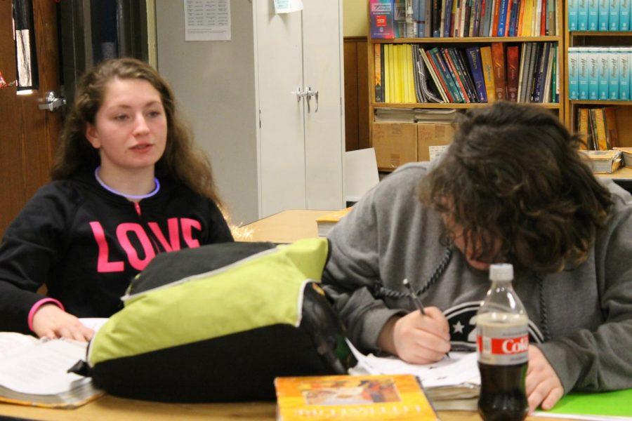 Alyssa Sample (10) and Alex Metcalf (12)