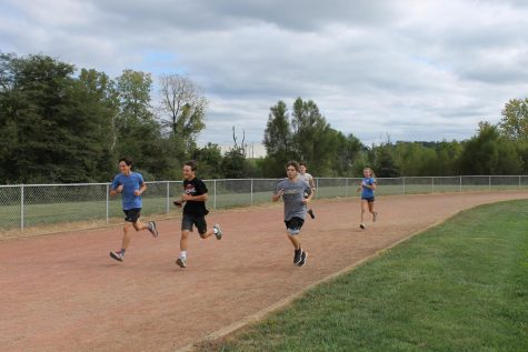 The Blackcats running 400 meters at a 5k pace