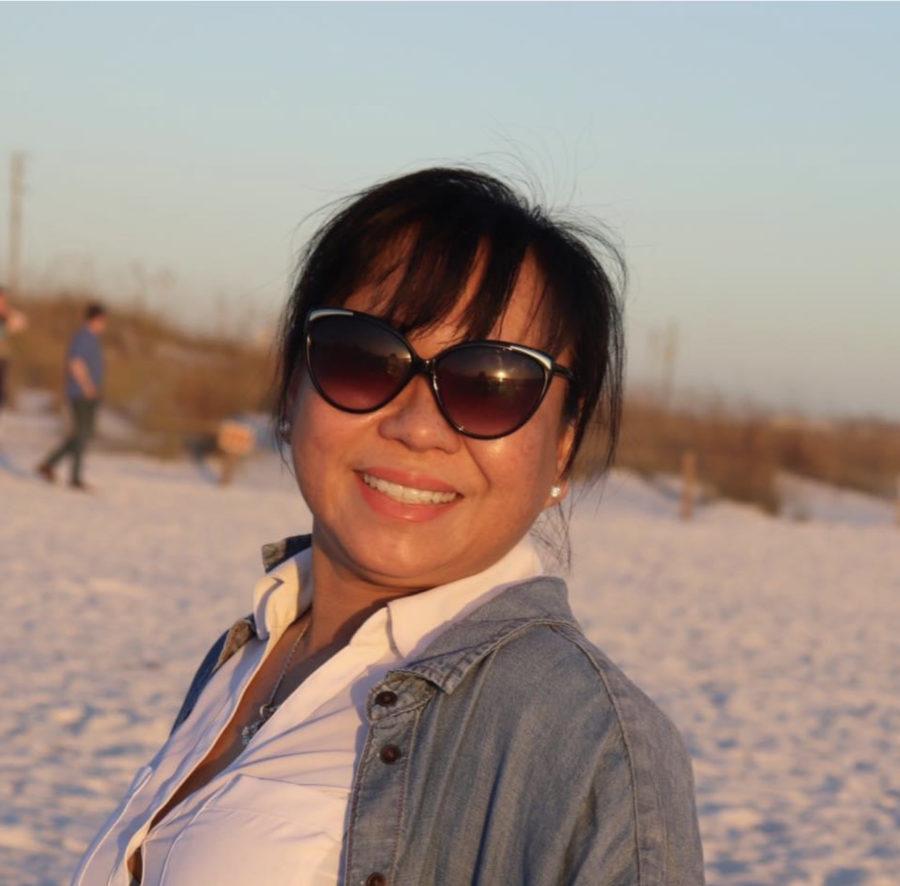 Lena Thach, a citizen of Fredericktown, Missouri during sunset in Florida.