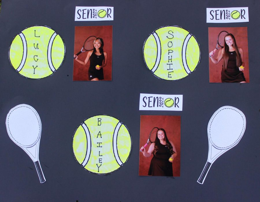 A poster Coach Maddie made for senior night.